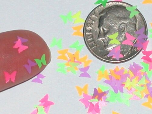 60pc Super tiny Magical Butterfly fairy dust Wings Glows in black Light confetti