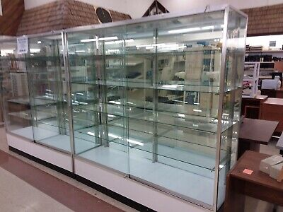 Divided Retail Upright Wall Display Trophy Show Case 70 Long