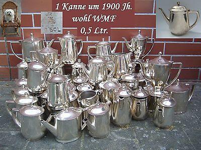 1 Tee Kanne Kaffeekanne 500 ml. Hotelsilber 600 g versilbert WMF ? Jugendstil