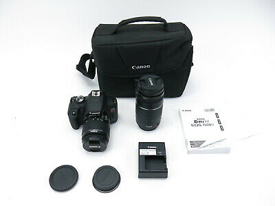 "Canon EOS Rebel T7 24.1MP 3"" LCD 2 Lens DSLR Camera Kit"