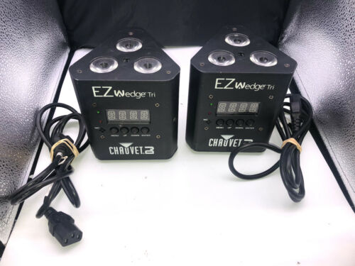 Lot of 2 CHAUVET EZ WEDGE TRI DJ Stage Lighting/Effects rechargeable DJ Lights