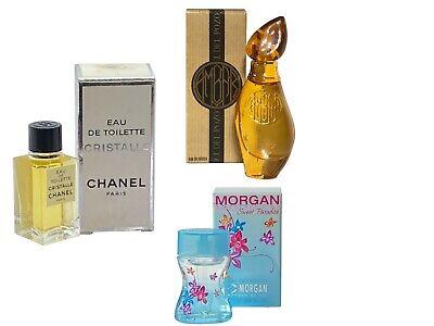 Ladies Miniature Perfume Travel x3 CHANEL Cristalle 4.5ml EDT Morgan Sweet Ambar
