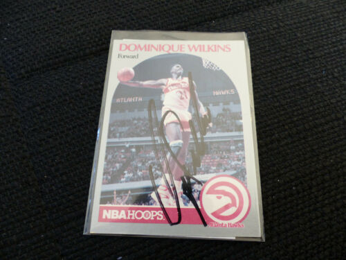 DOMINIQUE WILKINS signed NBA HOOPS Card #36 InPerson in Berlin