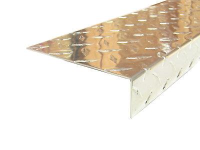 Aluminum Diamond Plate Angle .062 X 1.5 X 5.5 X 48 In. 3003 Uaac
