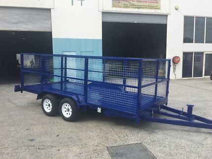 NEW *MULTI PURPOSE* 15FT CAR TRAILER WITH 1200MM CAGE
