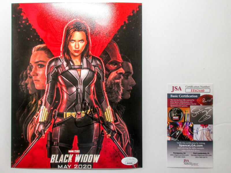 Scarlett Johansson Signed Black Widow D23 8x10 Poster Photo EXACT Proof JSA COA