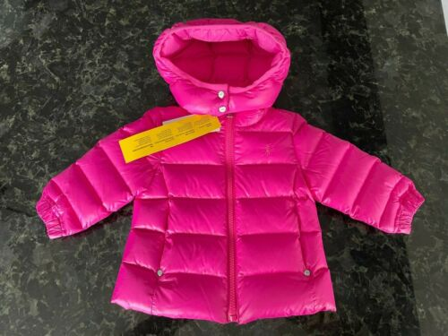 NWT Ralph Lauren POLO Down Puffer Jacket Infant Girl Size 9 Months PINK