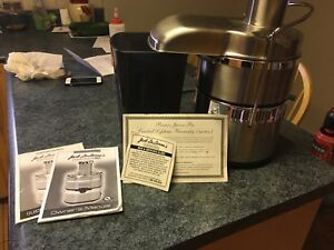 Jack Lalanne Stainless Steel Juicer