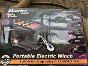 MASTER LOCK NEW PORTABLE OR MOUNTABLE WINCH