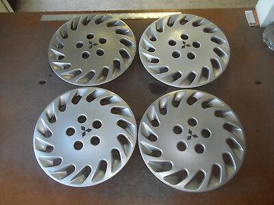 """1992 92 93 Mitsubishi Diamante Hubcap Wheel Cover Hub Cap 15"""" OEM USED 57532 SET"""