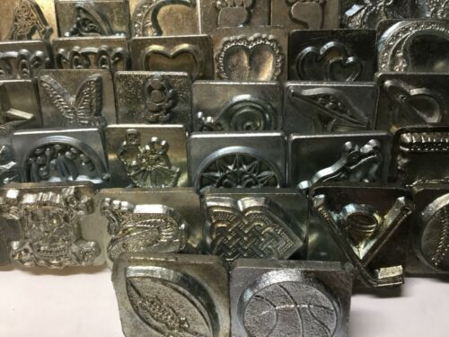SELECT LOT#03 Vtg Craftool Co USA 2-3D Leather stamp Flat shipping rate