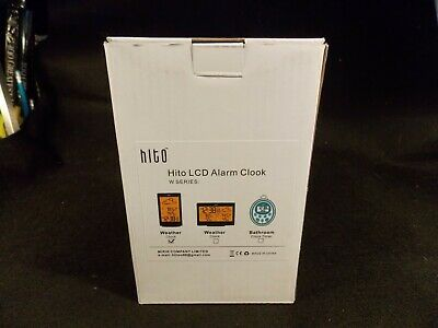HITO LCD Alarm Clock/Weather Station NEW in Factory Box