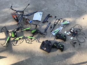 Box of assorted RC - 2 drones + 1 helicopter