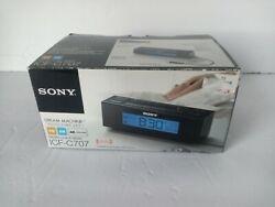 Sony ICF-C707 Nature Sounds Alarm Clock with Digital AM/FM Radio - Black.