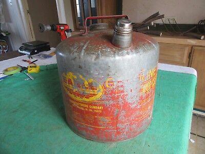 Vintage 5 Gallon Eagle Oil Gas Can Usable Condition  Lot 18-84-3-e