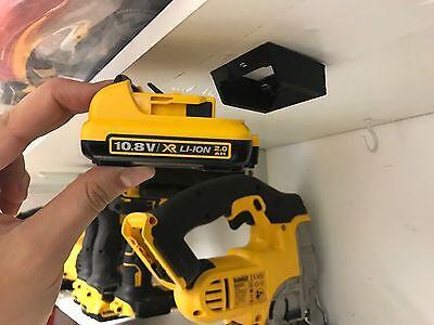 5x STEALTH BATTERY MOUNTS for DeWalt 12v XR MAX holder rack slot case van case
