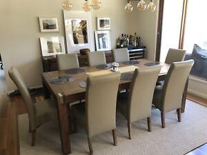 9 piece dining suite - silverwood