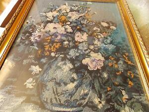 Ex-Large Beautiful Flower Tapestry and Gold Textured Frame Armidale Armidale City Preview