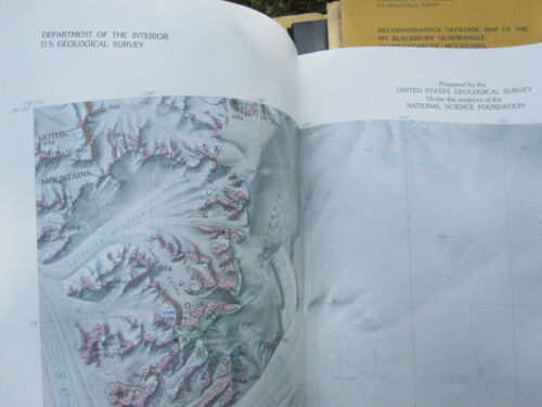 Mt Blackburn Antarctica Transantarctic Mountains Geologic Map 1985 USGS poster