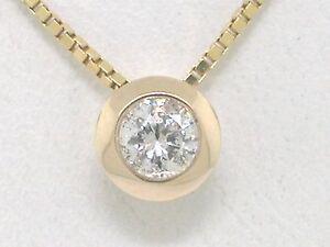 Diamant Brillant Anhänger 585 Gelbgold 14Kt Gold Solitär 0,24ct Gleiter gW