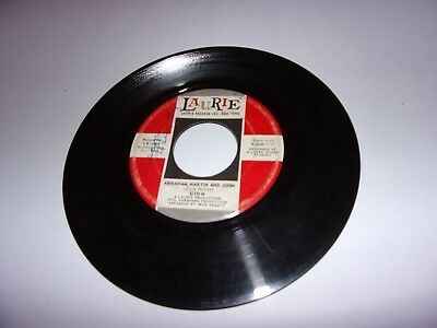Dion: Abraham, Martin And John / Daddy Rollin' / Vinyl 45 Rpm / Laurie 3464