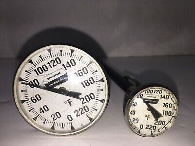 Lot of 2 Vintage UNIVERSAL ENTERPRISES 220° F Baking Meat Cooking Thermometer
