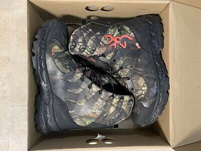 "Browning BUCK SHADOW 8"" Mens Waterproof Camo/Black Hunting Boots"