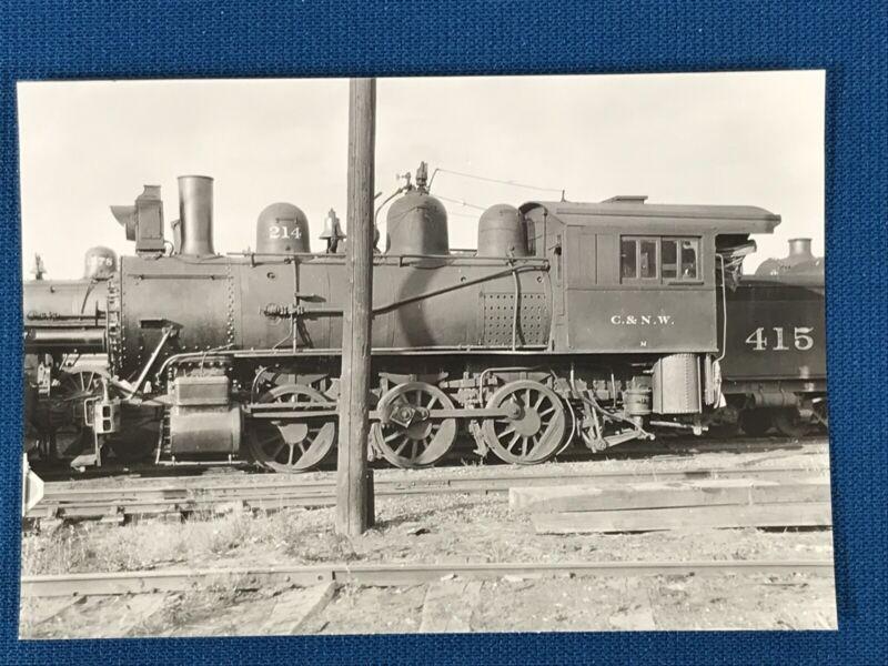 Chicago & North Western Railway Train Engine Locomotive 214 Antique Photo