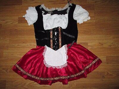 Womens OCTOBERFEST BEER GARDEN GIRL Halloween Costume L Lg Charades - Renaissance Girl Kostüm