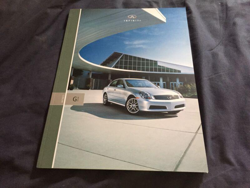2005 Infinity G Sedan USA Market Brochure Catalog Prospekt