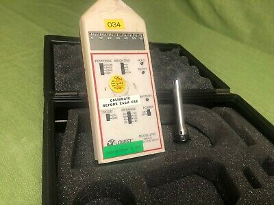 Quest Electronics 2700 Impulse Sound Level Meter W Microphone Case