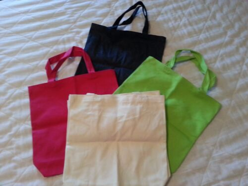 """Canvas tote bag w. handles 4 color choices for crafting - 13""""W X 11"""" H x 3 1/2""""D"""