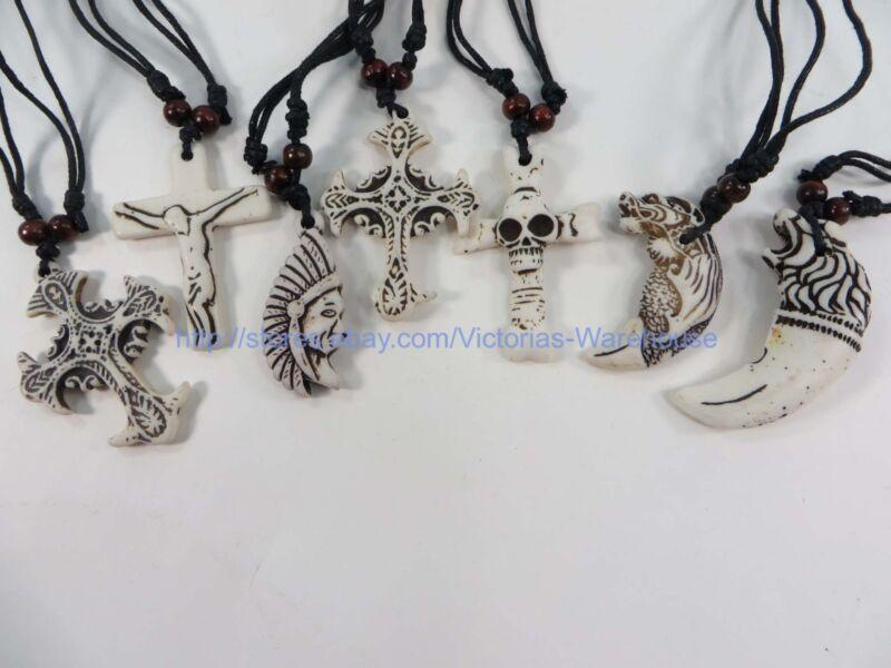 wholesale 100pcs hippie gothic rock punk pendant necklaces  jewelry lots