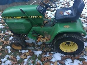 John deere 216 with 37 blower