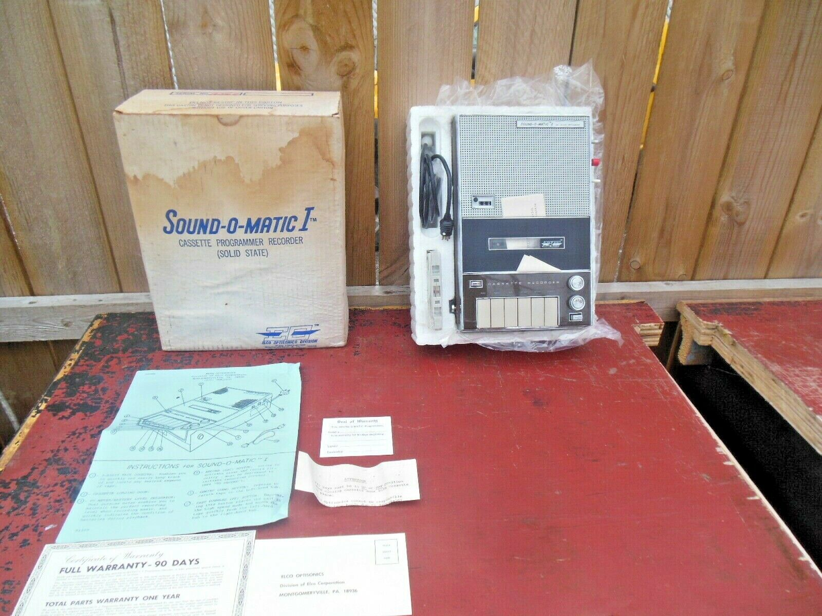 VTG 1969 RARE SOUND O MATIC 1 JAPAN CASSETTE PLAYER RECORDER MINT IN BOX NOS  - $36.00