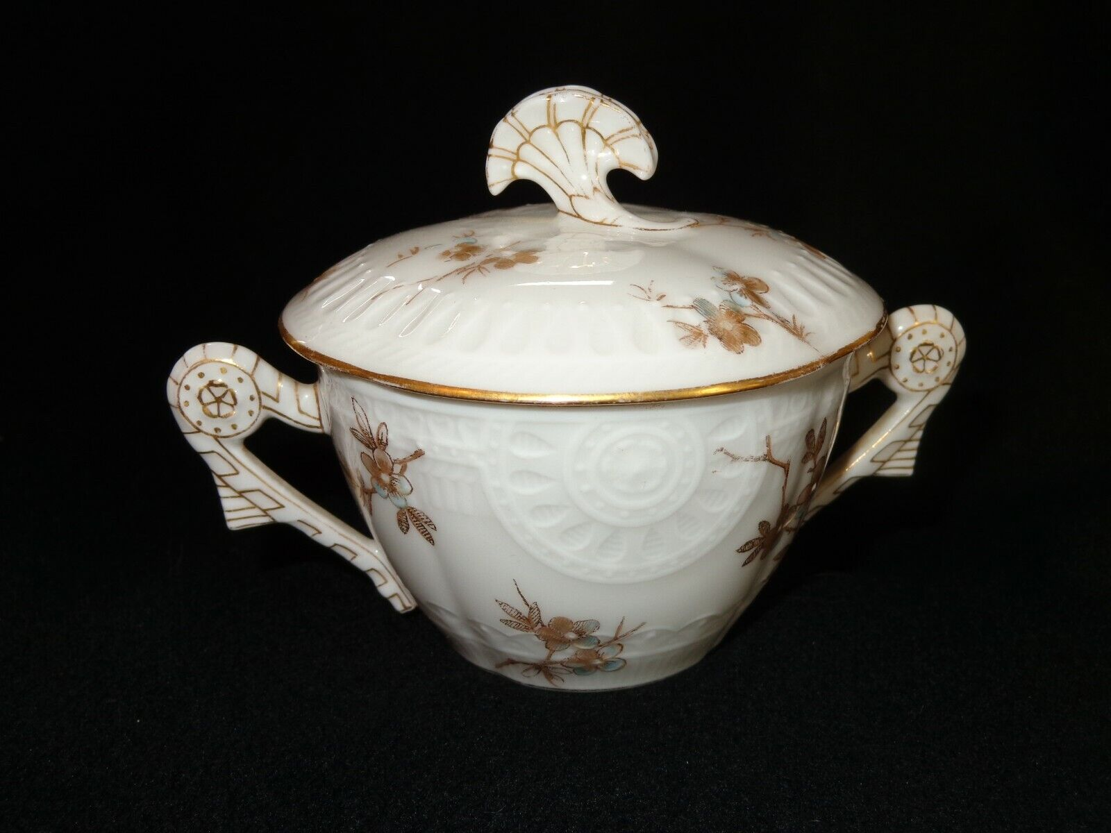 CFH Haviland Limoges France Covered Sugar Bowl Floral - $9.99