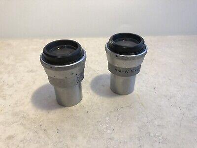 Carl Zeiss Kpl-w 10x O.d.23mm Microscope Eyepiece Pair - Delamination