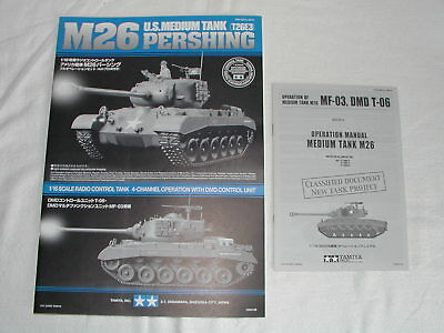 Tamiya 56015 1/16 RC - Vintage - Manuel Manual Tank US Pershing M26 56015 - Used
