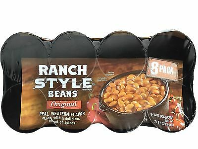 Ranch Style Beans Original Real Western Flavor 15 oz Cans 8 Pack