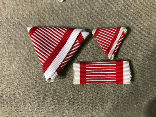 Austrian Austro Hungarian Replacement Trifold Ribbon Set WWI Wolrd War I