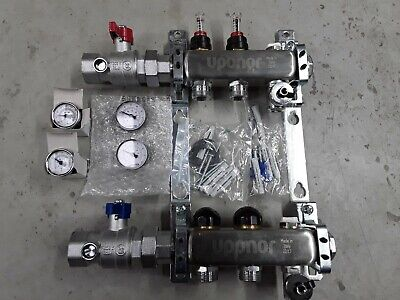 2-loop 1 Stainless Steel Radiant Heat Manifold Assembly W Flow Meter