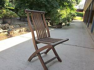 4 x Solid Teak Timber Garden Chairs Windsor Hawkesbury Area Preview
