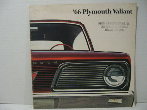 1966 Plymouth Valiant Car Dealer Sales Brochure Catalog