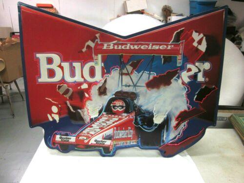 Rare Budweiser King Kenny Bernstein NHRA Drag Racing Dragster Tin Beer Car Sign