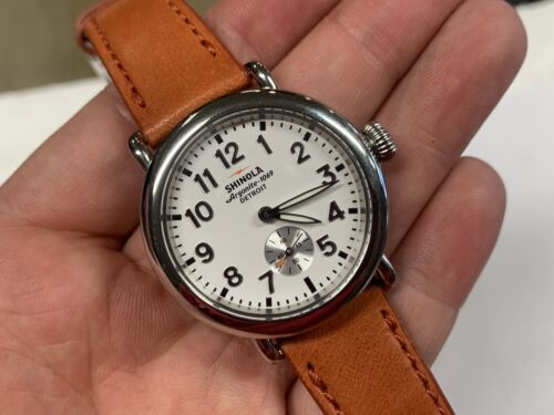 Shinola The Runwell White Dial Orange Strap 36mm S0200051 Watch