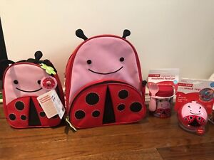 Skip Hop Zoo Lady Bug Lunch bag and Food Jar
