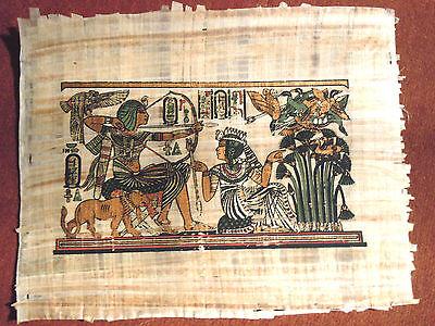 Ägypten  Papyrus-Bild 30x40 cm  Der Pharao auf der Jagd