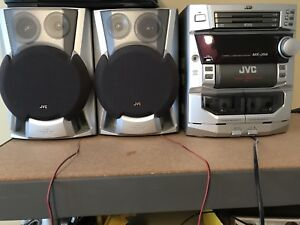 JVC MX-J56 Cassette and CD Player W/2 Dual Cannon Duct Speakers