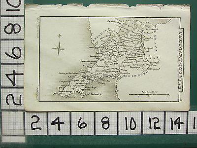 c1833 GEORGIAN MAP ~ CAERNARVONSHIRE ANGLESEA CONWAY LANRWST