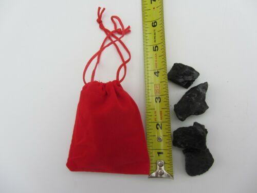 RED VELVET DRAWSTRING BAG SACK OF REAL LUMP COAL NAUGHTY CHRISTMAS GAG